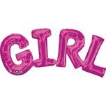 Amscan SuperShape™ Phrase Girl pink