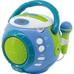 Soundmaster Kinder CD-Player mit Sing-a-long Funktion blau