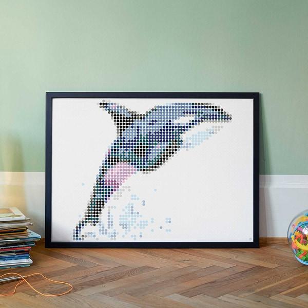 dot on art - orca 50 x 70 cm