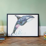 dot on art - orca 50 x 70 cm