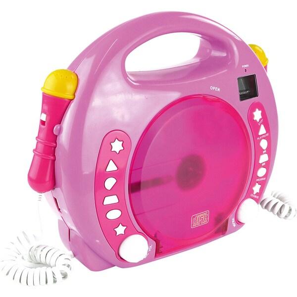 X4 Tech Kinder CD Player Bobby Joey inkl. MP3 und Mikrofone pink