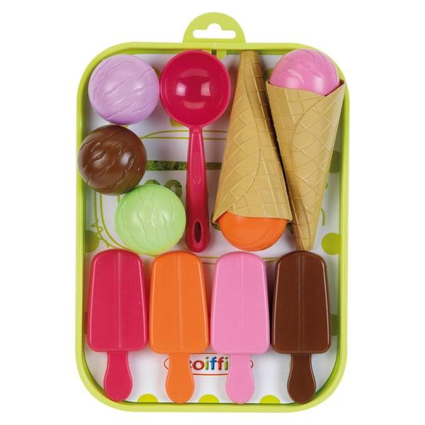 écoiffier Spiellebensmittel Eis-Tablett