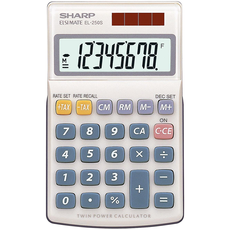 Schneider Novus Taschenrechner EL250S Sharp 8-stellig