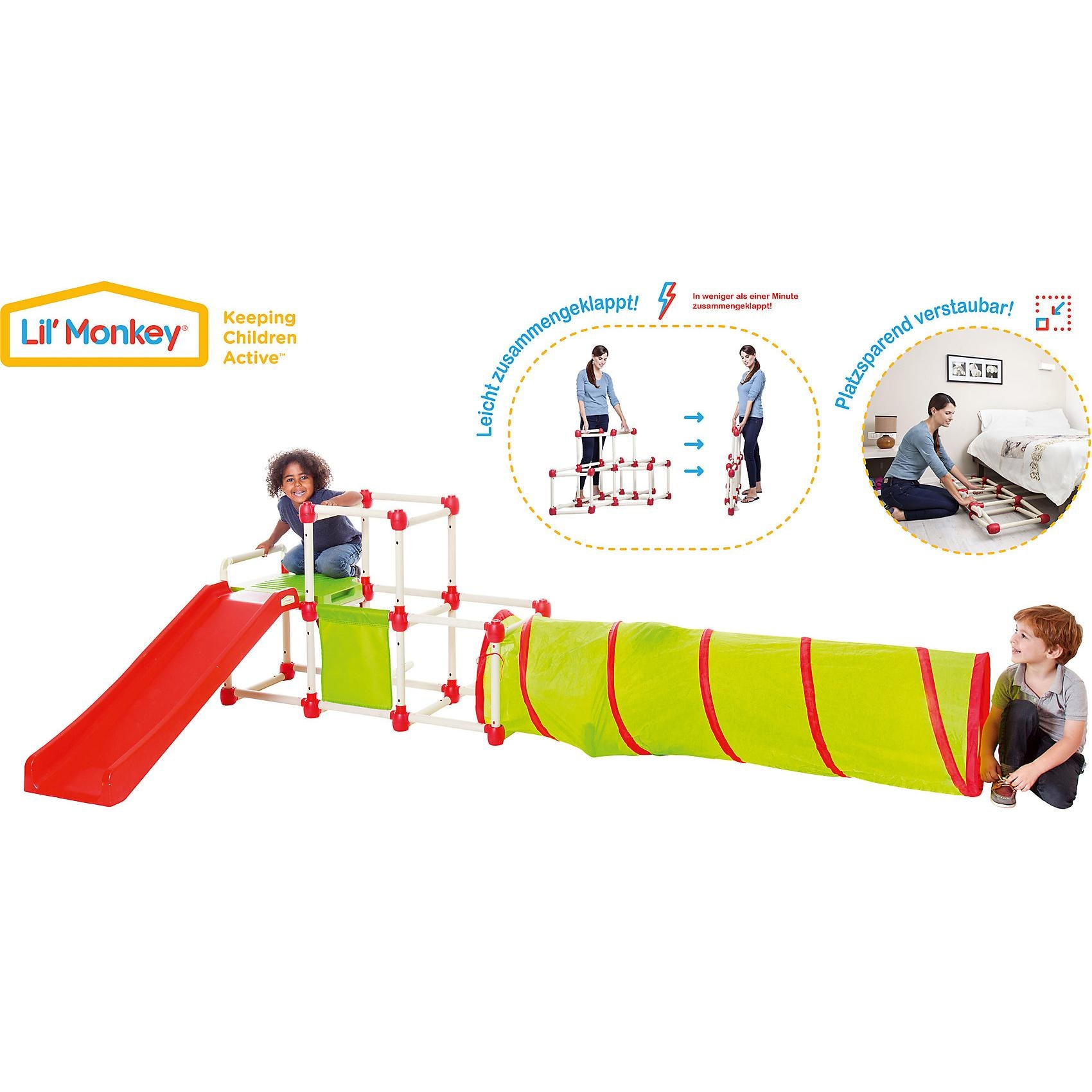 Beluga Klettergerüst Climb Slide Olympic mit Tunnel