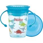 """Nuby 360° Trinklerntasse mit Griffen """"WONDER CUP"""" aus Tritan von Eastman 240 ml aqua"""