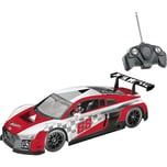 Happy People Hot Wheels Audi R8 LMS 1:18 - Ferngesteuertes Auto rotes Racing-Design 8 kmh