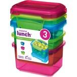 sistema Lunch Frischhaltedosen Coloured 400 ml 3 Stück