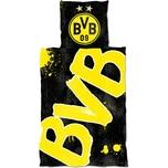 Borussia Dortmund Bettwäsche BVB Glow in the Dark Baumwolle 135 x 200 cm