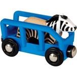 BRIO Tierwaggon Zebra