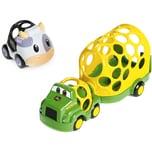 Kids II Oball John Deere Go Grippers Lastwagen-Fahrzeug-Set 2-tlg.