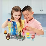 Hasbro Play-Doh Drizzy Eismaschine mit Toppings inkl. Play-Doh Drizzle Knete und 6 Play-Doh Farben
