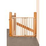 Geuther Treppenschutzgitter schwenkbar Buche massiv natur lackiert 95-135 cm