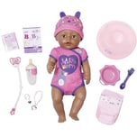 Zapf Creation Baby Born Babypuppe Soft Touch Girl Brown Eyes