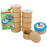 Folia Mini-Pappboxen Rund 10 Stück