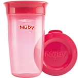"Nuby 360° Trinklernbecher ""WONDER CUP"" Basic 300 ml pink"