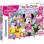 Clementoni Glitterpuzzle 104 Teile Minnie Mouse