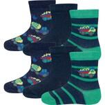 ewers Baby Socken 6er-Pack für Jungen Baufahrzeuge
