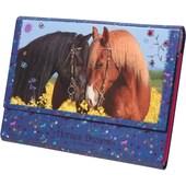 Depesche Briefpapier Horses Dreams in Fächermappe blau