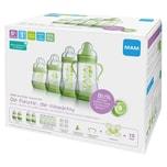 MAM Weithals Flaschen Starterset Anti-Colic 2x130ml 2x160 ml Silikonsauger grün 15-tlg.