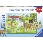 Ravensburger 2er Set Puzzle je 24 Teile 26x18 cm Auf Dem Pferdehof