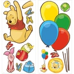 RoomMates Wandsticker Pooh Piglet Giant 16-tlg.