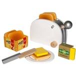 Chr. Tanner Golden Toast Set aus Holz mit Zubehör Spiellebensmittel