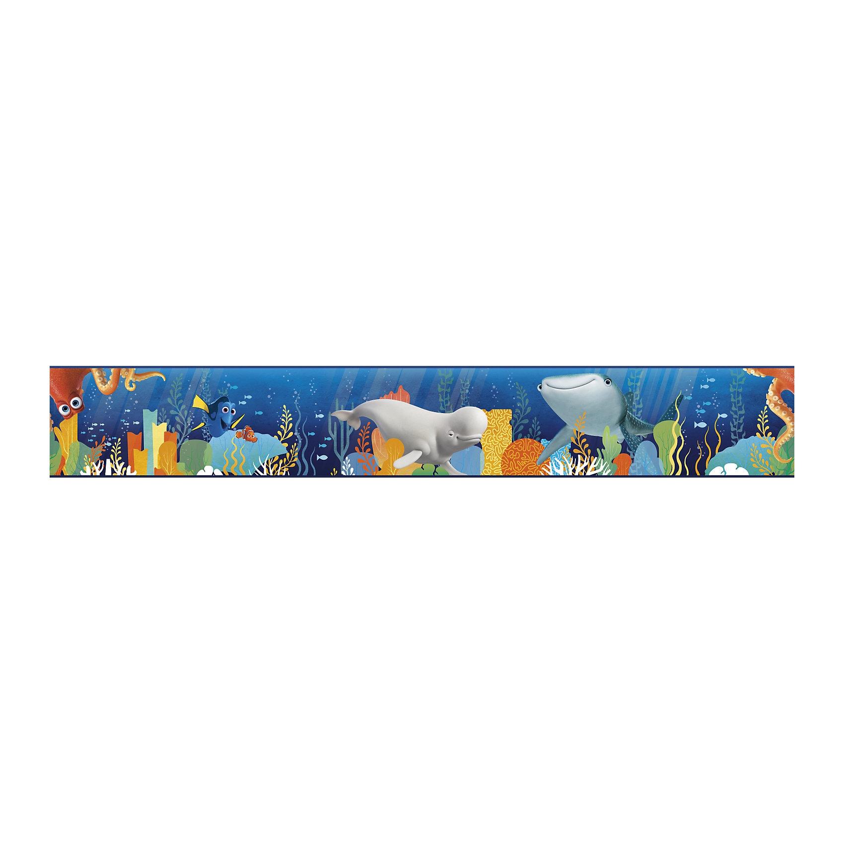 RoomMates Bordüre Disney findet Dorie mit Freunden blau 457 m x 2286 cm