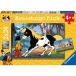 Ravensburger 2er Set Puzzle je 24 Teile 26x18 cm Yakari und kleiner Donner