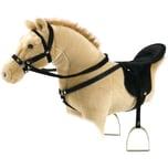 Happy People Pferdesattel mit Steigbügel schwarz