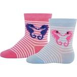 ewers Baby Socken Doppelpack für Mädchen Seepferdchen