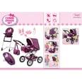 Bayer Kombi Grande Set Einhorn lila mit Puppenwagen