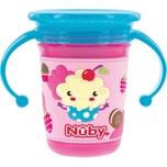 Nuby 360° Trinklerntasse Wonder Cup Mit 3D Druck 240 Ml Pink