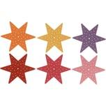 SUNNYSUE Filz-Stickplatten Stern Erste Stickübungen 6 Stück