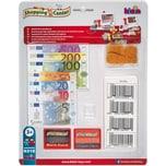 Klein Spielgeld und Zubehörset für Supermarktkasse