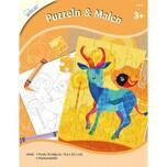 Mammut Spiel Und Geschenk Bastel-Set Puzzlen Malen
