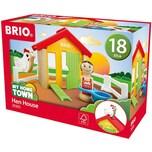 BRIO 8-tlg. Holz Bauernhof Set my Home Town Hühnerhaus