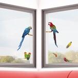 Fenstersticker Papageien 7-tlg.
