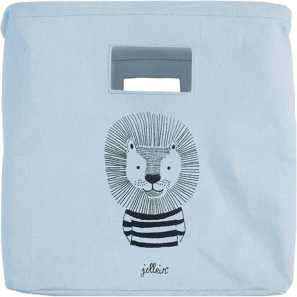 Jollein Korb canvas Wild animals soft blue