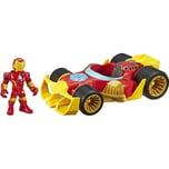 Hasbro Playskool Heroes Marvel Super Hero Adventures Iron Man Speedster Figur und Fahrzeug-Set zum S