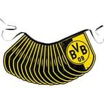 Borussia Dortmund Wimpel-Girlande BVB schwarzgelb 5 m x 20 cm