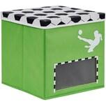 Store It! Aufbewahrungsbox Fußball Mit Deckel Und Tornetz Klein