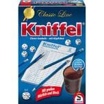 Schmidt Spiele Kniffel Classic Line mit Lederbecher und extragroßen Würfeln
