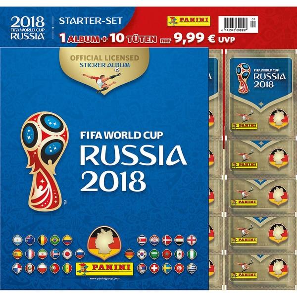 Top Media FIFA Fussball-Weltmeisterschaft Russland 2018 Panini STARTER-SET