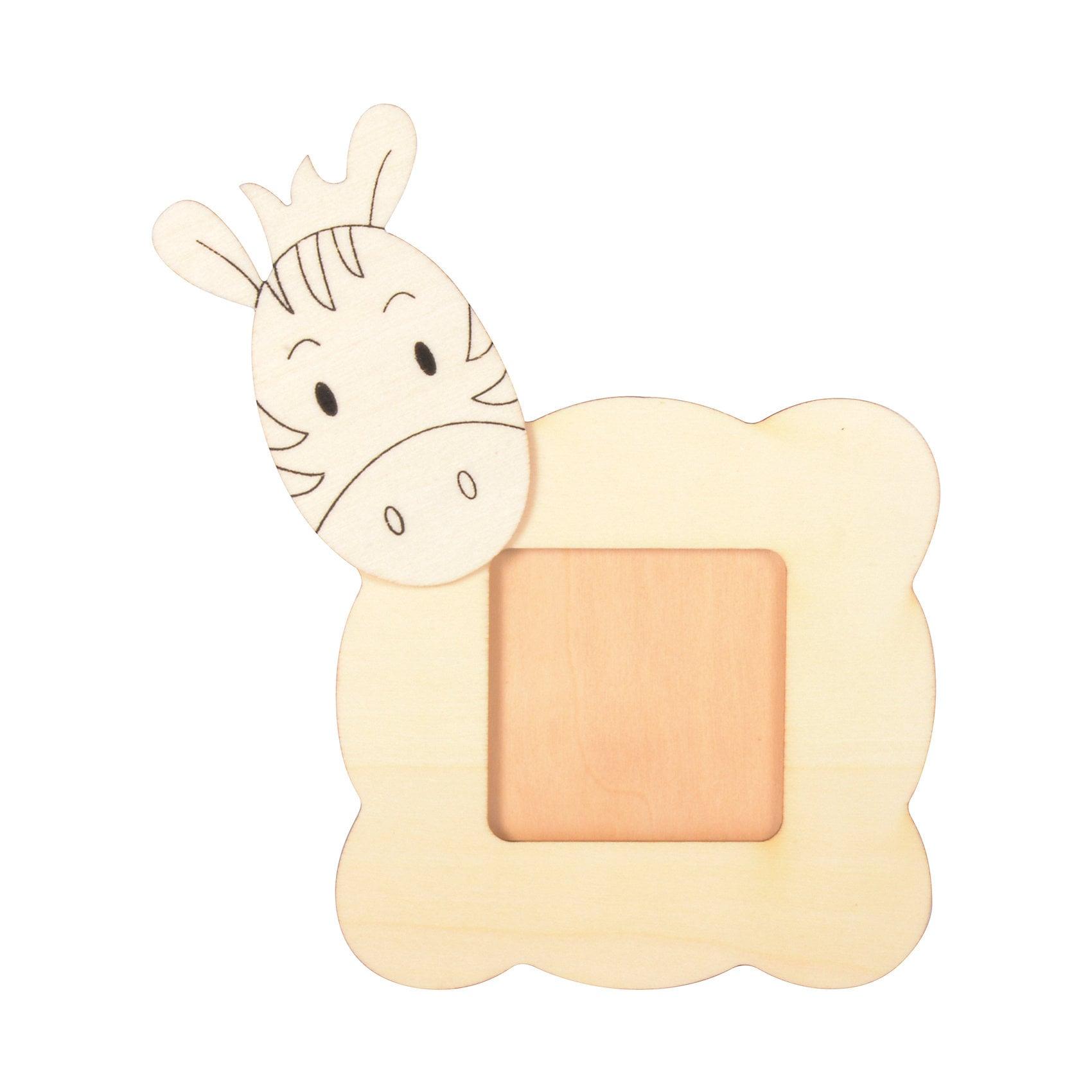 Eduplay Bilderrahmen Tiere aus Holz zum Bemalen 6 Stück