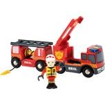 Brio Feuerwehr-Leiterfahrzeug mit Licht Sound