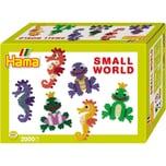Hama Perlen 3501 Kleine Welt Seepferdchen und Frosch 2.000 midi-Perlen und Zubehör