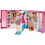Mattel Barbie Traum Kleiderschrank ausklappbar mit Puppe Zubehör und Puppen-Kleidung