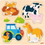 goki Einlegepuzzle Bauernhoftiere