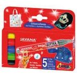 C. KREUL Javana texi mäx Stoffmalstifte Glitter 5 Farben