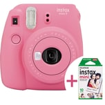 Fujifilm Instax Sofortbildkamera mini 9 flamingorosa Set inkl. Film